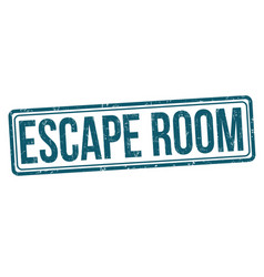 Escape room grunge rubber stamp vector