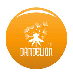 Field dandelion logo icon orange vector
