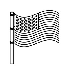 Figure united states flag icon vector