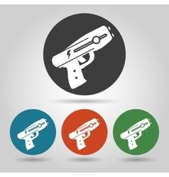 Flat police stun gun icons set vector image
