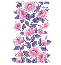 Floral background flower rose bouquet seamless vector