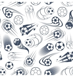 Football or soccer balls seamless pattern vector