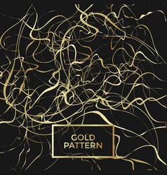 Gold curly pattern vector