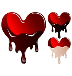 hearts in chocolate vector image