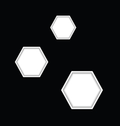 hexagon vector image
