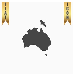 High map - Australia vector image