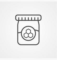 honey jar icon sign symbol vector image