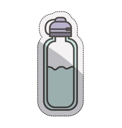 Isolated bottle of water design vector