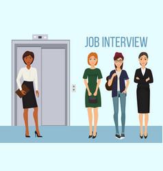 job interview banner women vector image