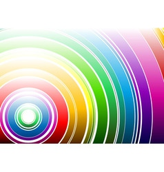light rainbow vector image