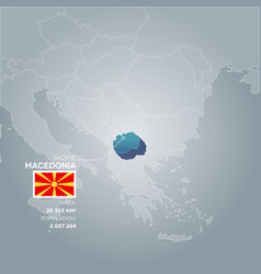 Macedonia information map vector