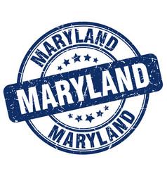 Maryland blue grunge round vintage rubber stamp vector