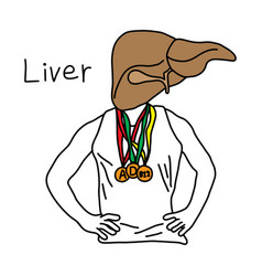 metaphor function of liver to liver store vector image