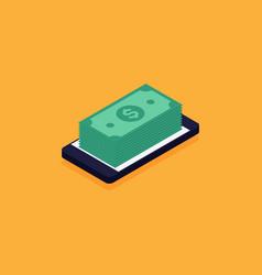 Mobile banking online e-commerce business concept vector