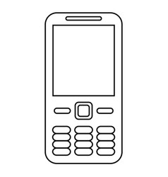mobile phone call technology line vector image