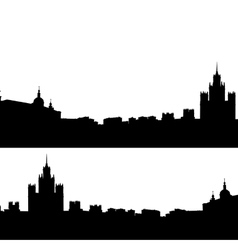Moscow city silhouette skyline vector image vector image