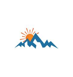 mountain logo design template vector image