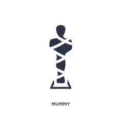 Mummy icon on white background simple element vector