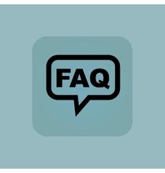 Pale blue FAQ message icon vector image