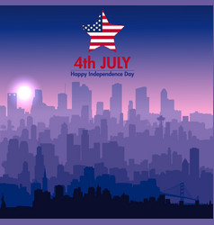 patriotic independence day background vector image