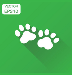 paw print icon business concept dog or cat vector image