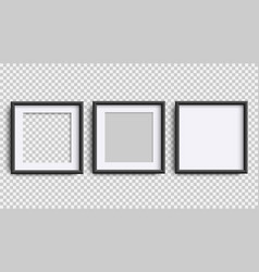 photo frames isolated on white realistic square vector image