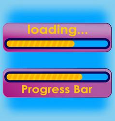 progress loading bar a blue vector image