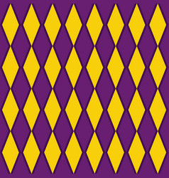 purple and yellow argyle harlequin seamless patter vector image