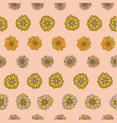 retro 60s floral repeat pattern great vector image