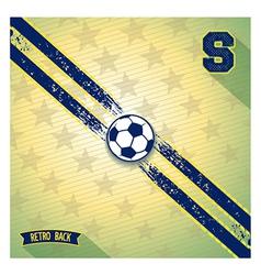 Retro sports design background vector