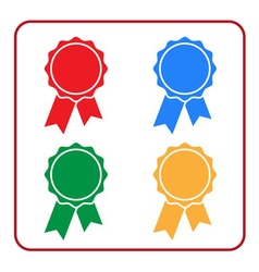Ribbon award icons set 1 vector