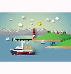 Sea city vector