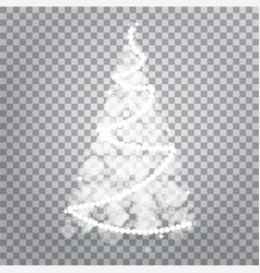 shiny christmas tree from lights isolated on vector image