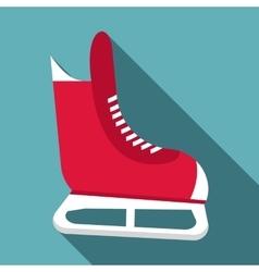 Skates icon flat style vector image