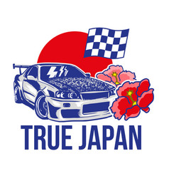 sport japan car vector image