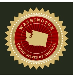 Star label Washington vector image