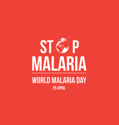 Stop malaria background style vector