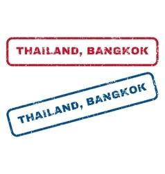Thailand Bangkok Rubber Stamps vector