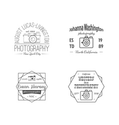 Vintage Line Photography Badges Labels vector image