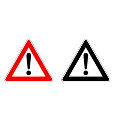 warning attention sign exclamation mark in vector image