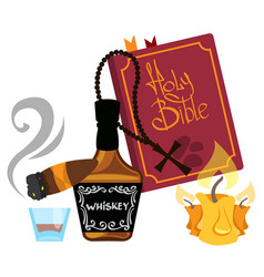 Wild west alcohol and the bible vector