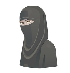 woman in niqab vector image