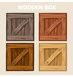 Wooden box game element vector
