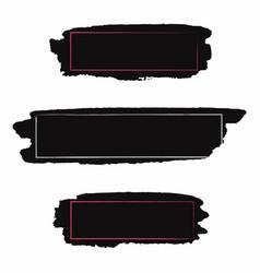 brush strokes set black paint inc brush stroke vector image