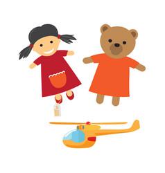 kids toys cartoon flat vector image