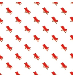 Red chaise lounge pattern cartoon style vector