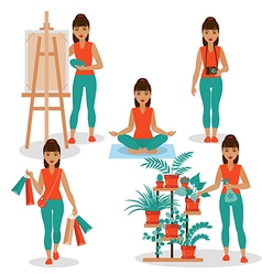 girlish hobby vector image vector image