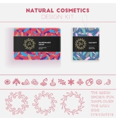 Natural cosmetics design kit vector image vector image