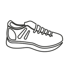 shoes sport equipment icon vector image vector image