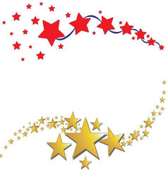 Star icon background vector image